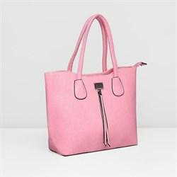 Сумка жен L-0487, 32*13*25, отд с перег на молн, 2 н/кармана, розовый 2246449