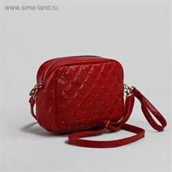 Сумка женская на молнии, 1 отдел, 1 наружный карман, регулируемый ремень, красная