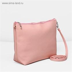 Сумка жен Классика, 30*7*22см, отдел на молнии, регул ремень, розовый   1847854