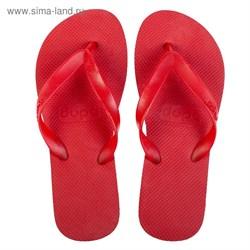 Пантолеты пляжные женские Dupe арт. DD-L100 (красный) (37/38)   3368735