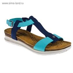 Туфли летние женские ''Inblu'' арт. TU-6T (джинс - бирюзовый) (р. 40)   3304589