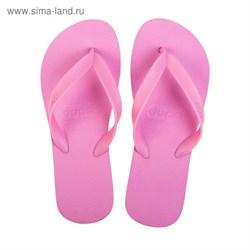 Пантолеты пляжные женские Dupe арт. DD-L100 (розовый) (35/36)   3368740