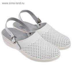 Туфли Сабо женские Маша модель 4202-00101, цвет белый (р.40) 1873589