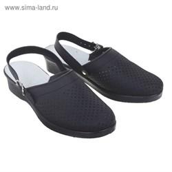 Туфли Сабо женские Эмануэла модель 6802-00101, цвет черный (р.40)   1873602