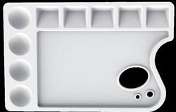 Палитра для рисования ЛУЧ пластиковая, прямоугольная с отверстием, 23х15см, толщ. 10мм, 29С 1729-08