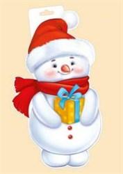Плакат ''Снеговик с подарком''