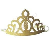 Корона бумажная золотая