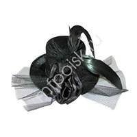 Шляпа Заколка черная (10){20}