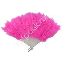WB Веер из перьев розовый