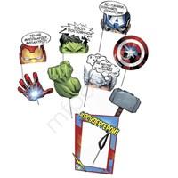 Набор для фотосессии Марвел Супергерои 9шт