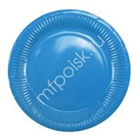 Тарелки бумажные ламинированные Blue 6шт