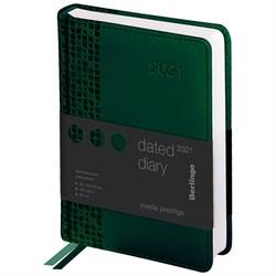 Ежедневник датированный 2021г., А6, 184л., кожзам, Berlingo ''Vivella Prestige'', зеленый DD1_80605